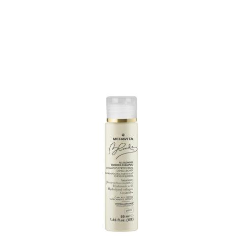Medavita Blondie Shampoo Fortificante per Tutti i Capelli Biondi 55ml