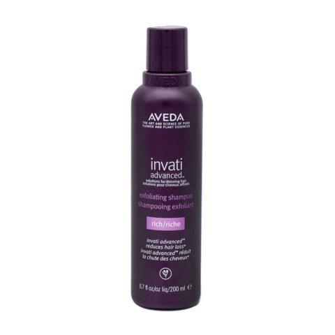 Aveda Invati Advanced Shampoo Esfoliante Ricco per Capelli Medio Grossi 200ml