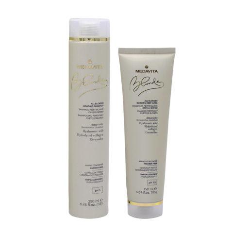 Medavita Blondie Shampoo 250ml e Maschera 150ml per Capelli Biondi