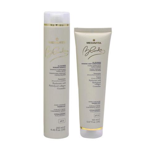 Medavita Blondie Shampoo 250ml e Balsamo 150ml per Capelli Biondi