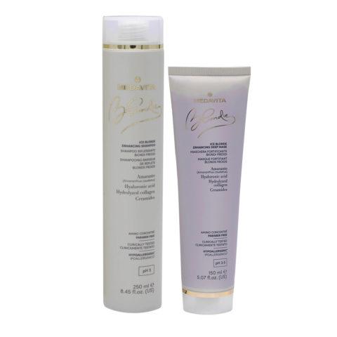 Medavita Blondie Ice Shampoo 250ml Maschera 150ml per Biondi Freddi