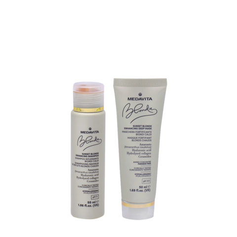 Medavita Blondie Sunset Shampoo 55ml Maschera 50ml Biondi Caldi