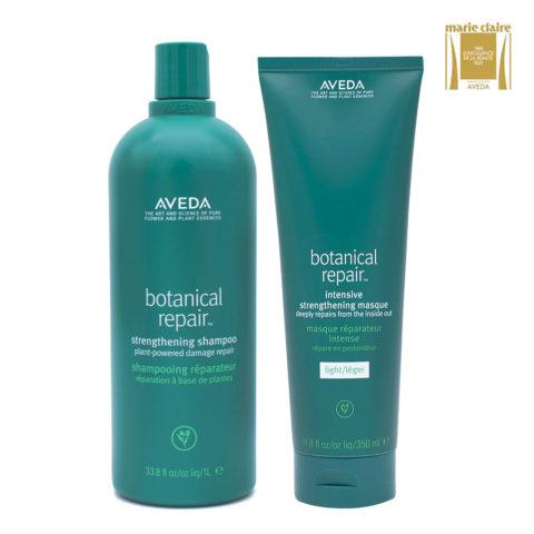 Aveda Botanical Repair Shampoo 1000ml e Maschera Leggera 350ml Rinforzanti Capelli Danneggiati