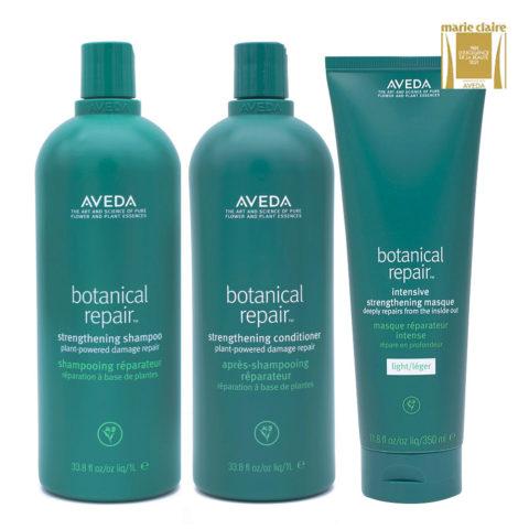 Aveda Botanical Repair Shampoo 1000ml Balsamo 1000ml Maschera Leggera 350ml Rinforzanti