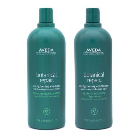 Aveda Botanical Repair Shampoo 1000ml Balsamo 1000ml Rinforzanti