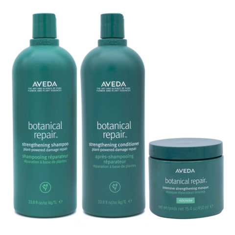 Aveda Botanical Repair Shampoo 1000ml Balsamo 1000ml Maschera Intensiva 450ml Rinforzanti