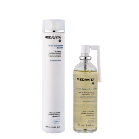 Medavita Lotion concentree Homme Shampoo anticaduta uomo 250ml Lozione 100ml