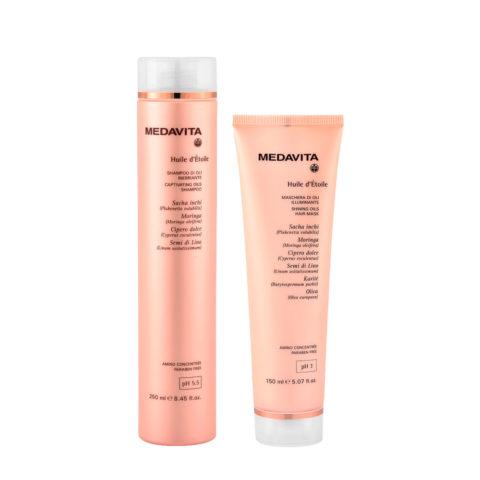 Medavita Huile d'etoile Shampoo di Oli 250ml e Maschera 150ml
