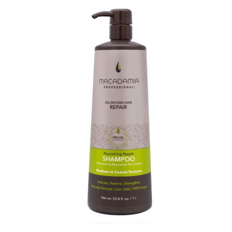 Macadamia Nourishing Repair Shampoo per Capelli Secchi e Rovinati 1000ml