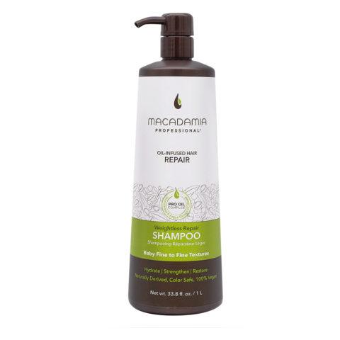 Macadamia Weightless Shampoo Idratante per Capelli Rovinati e Fini 1000ml