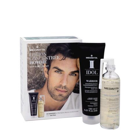 Medavita Lotion Concentree Homme Kit Anticaduta Uomo con Shampoo Omaggio