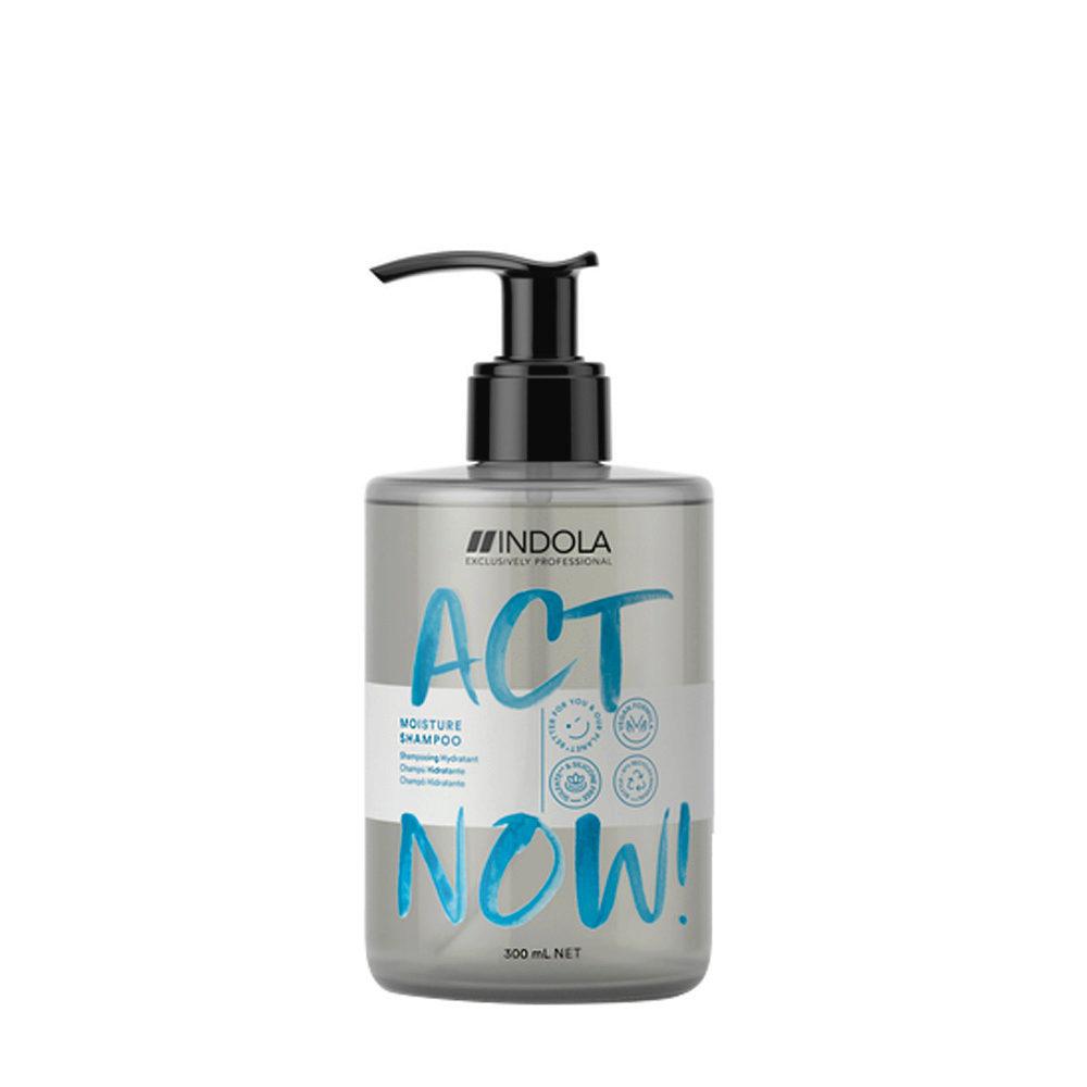 Indola Act Now! Moisture Shampoo per Capelli Secchi 300ml