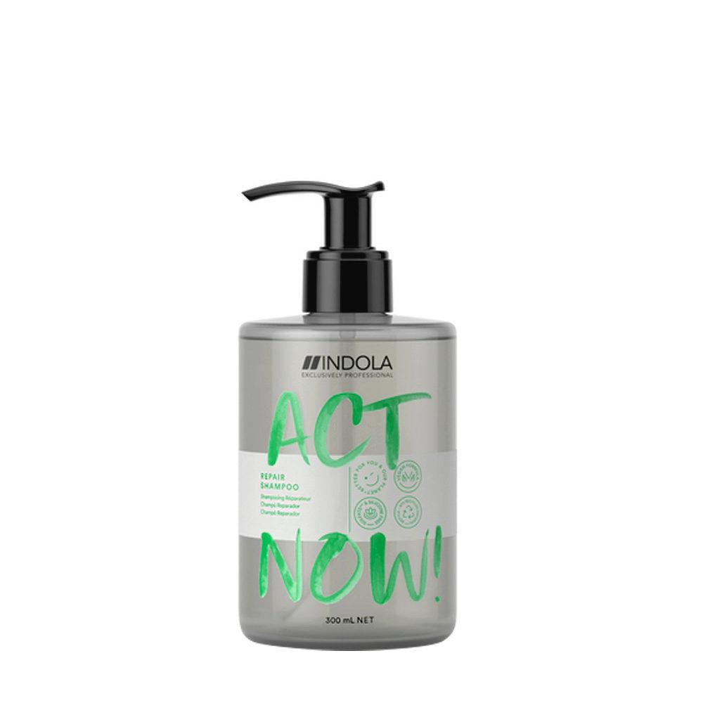 Indola Act Now! Repair Shampoo per Capelli Rovinati 300ml