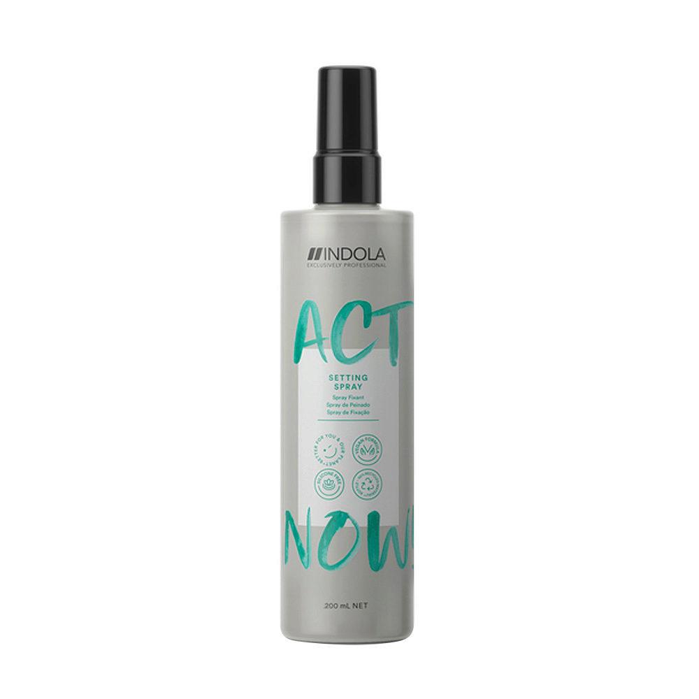 Indola Act Now! Setting Spray Districante per tutti i tipi di Capelli 200ml