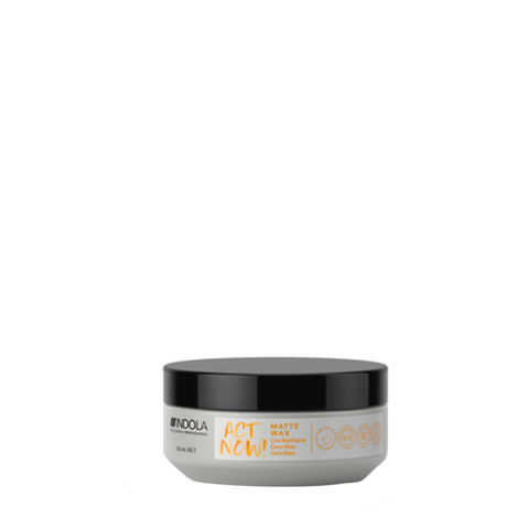 Indola Act Now! Matte Wax Cera Argilla Opaca 85ml