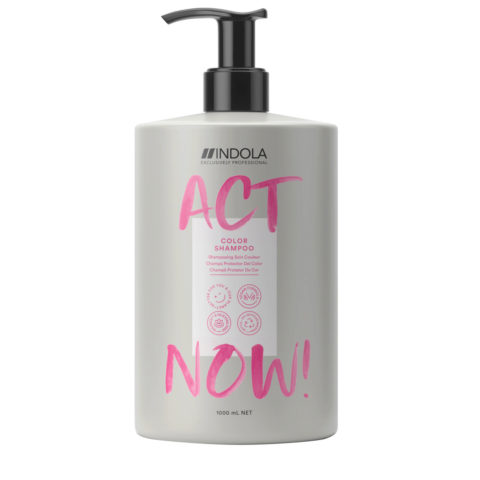 Indola Act Now! Color Shampoo per Capelli Colorati 1000ml