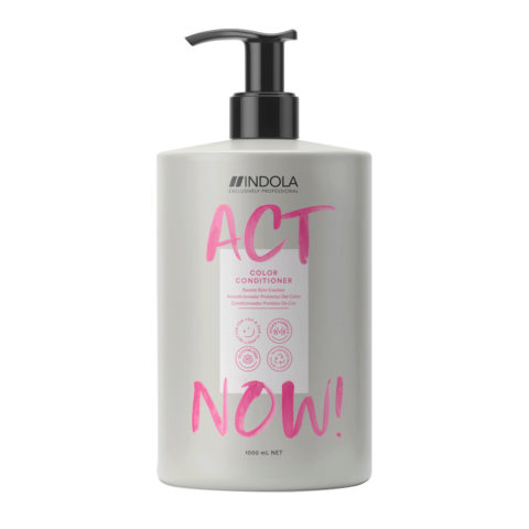 Indola Act Now! Color Balsamo per Capelli Colorati 1000ml