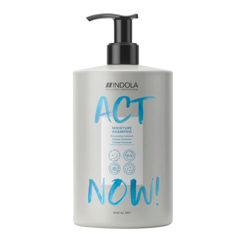 Indola Act Now! Moisture Shampoo per Capelli Secchi 1000ml