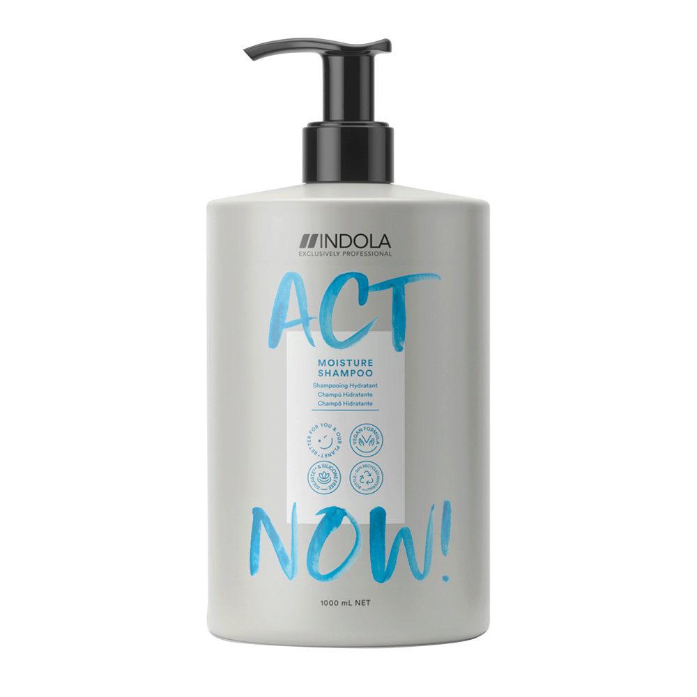 Indola Act Now! Moisture Shampoo per Capelli Secchi 1000ml