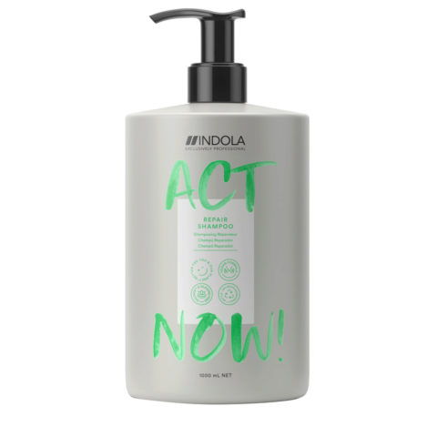 Indola Act Now! Repair Shampoo per Capelli Rovinati 1000ml