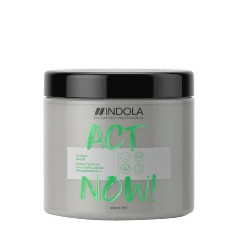 Indola Act Now! Repair Maschera per Capelli Rovinati 650ml