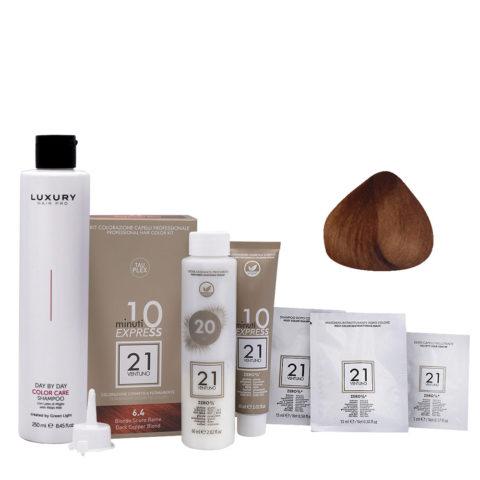 21 Ventuno Kit Colorazione 6.4 Biondo Scuro Rame + Shampoo Omaggio 250ml