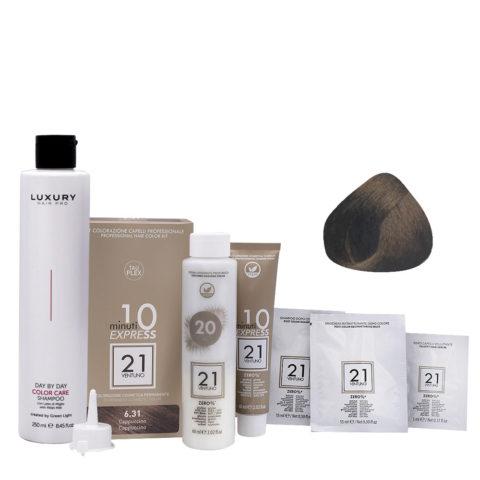 21 Ventuno Kit Colorazione 6.31 Cappuccino + Shampoo Omaggio 250ml