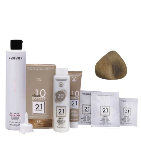 21 Ventuno Kit Colorazione 8.0 Biondo Chiaro + Shampoo Omaggio 250ml