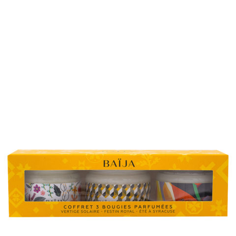 Baija Paris Cofanetto Regalo con 3 Candele Profumate 3x50gr