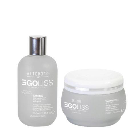 Alterego Egoliss Kit Anticrespo Lisciante Shampoo 250ml Maschera 250ml
