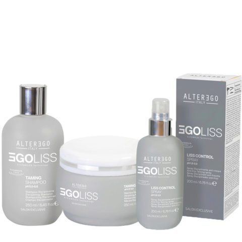 Alterego Egoliss Kit Anticrespo Shampoo 250ml Maschera 250ml Siero 200ml
