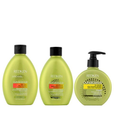 Redken Curvaceous Shampoo 300ml Balsamo 250ml Crema Ricci 180ml