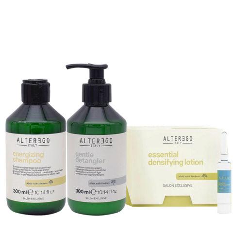 Alterego Set per Capelli che Cadono Shampoo 300ml Balsamo 300ml Fiale 12x7ml