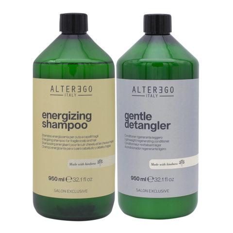 Alterego Set Capelli che Cadono Shampoo 950ml e Balsamo Districante 950ml
