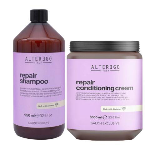 Alterego Repair Set Capelli Rovinati Shampoo 950ml e Maschera 1000ml