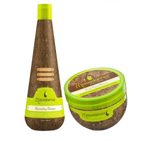 Macadamia Kit Idratante per Capelli Rovinati Shampoo 300ml e Maschera 236ml