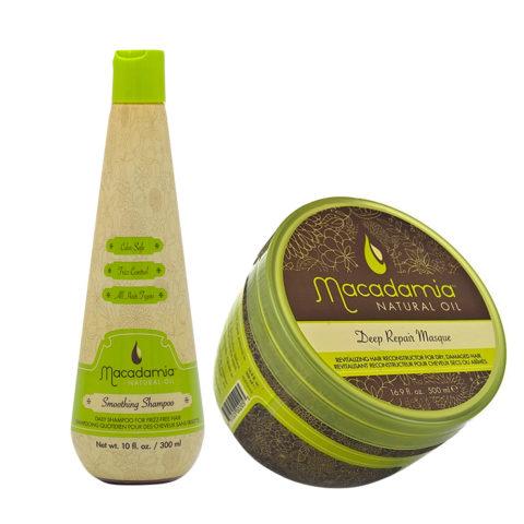 Macadamia Kit Anticrespo Shampoo 300ml e Maschera Ristrutturante 470ml