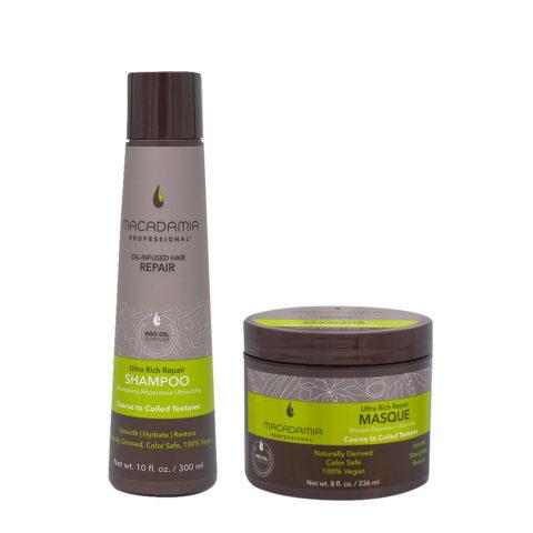 Macadamia Set Capelli Rovinati e Grossi Shampoo 300ml e Maschera 236ml