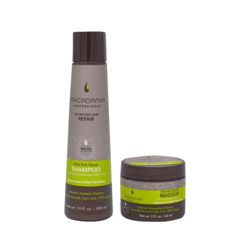 Macadamia Set Capelli Rovinati e Grossi Shampoo 300ml e Maschera 60ml