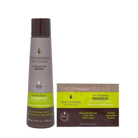 Macadamia Set Capelli Rovinati e Grossi Shampoo 300ml e Maschera 30ml