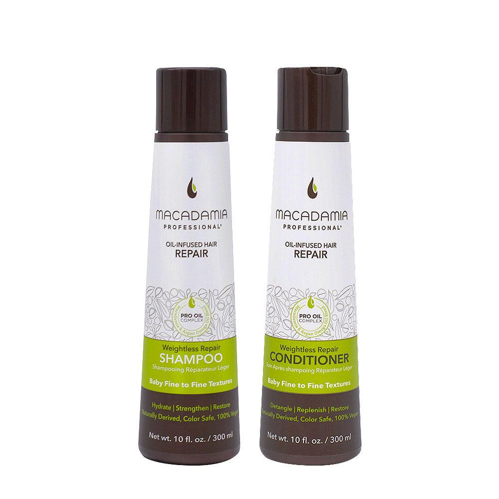 Macadamia Set Capelli Rovinati e Fini Shampoo 300ml e Balsamo 300ml