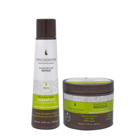Macadamia Set Capelli Rovinati e Fini Shampoo 300ml e Maschera 222ml