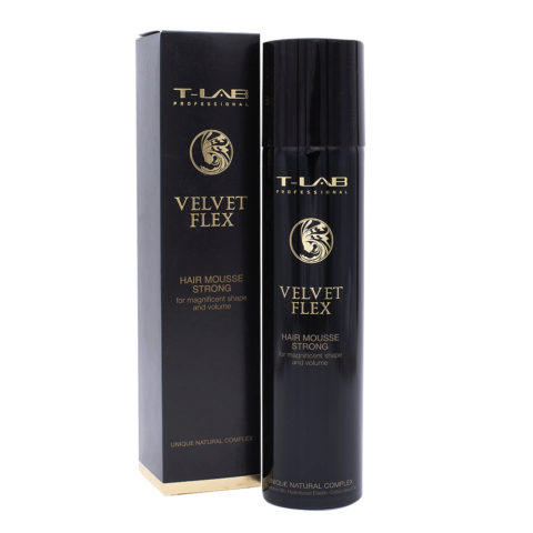 T-Lab Styling Velvet Flex Schiuma per Capelli Idratante Tenuta Forte 300ml