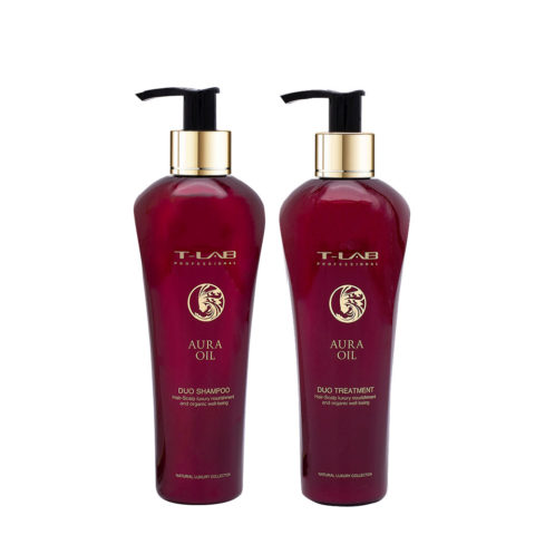 T-Lab Aura Oil Duo Shampoo 250ml e Balsamo 250ml per tutti i tipi di Capelli