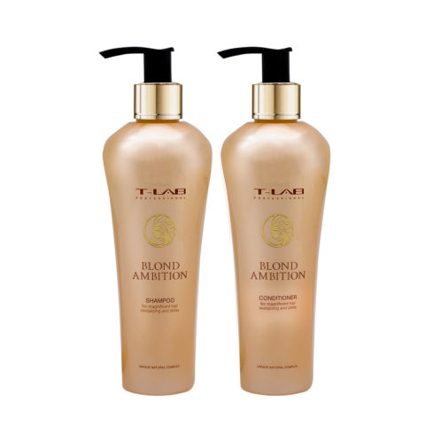 T-Lab Blond Ambition Shampoo 250ml e Balsamo 250ml per Capelli Biondi