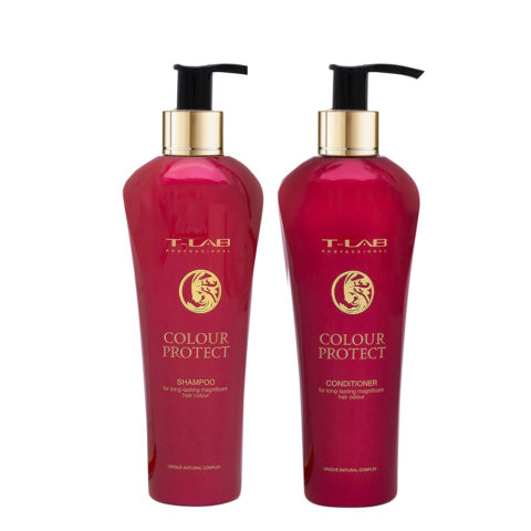 T-Lab Colour Protect Shampoo 250ml e Balsamo 250ml per Capelli Colorati