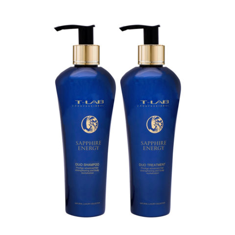 T-Lab Sapphire Energy Duo Shampoo 250ml e Balsamo 250ml per Capelli Maturi