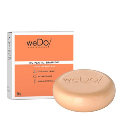 weDo No Plastic Shampoo Solido per tutti i tipi di Capelli 80gr