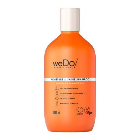 weDo Moisture & Shine Shampoo senza Solfati per Capelli Normali o Rovinati 300ml
