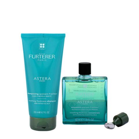 René Furterer Astera Shampoo Lenitivo 200ml e Siero per Cute Irritata 50ml